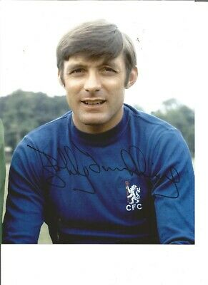 Football Autograph Bobby Tambling Chelsea FC Signed 10x8 inch Photograph JM120