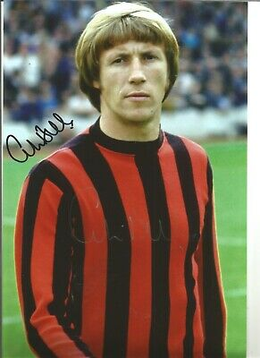 Football Autograph Colin Bell Manchester City Signed 12x8 inch Photograph JM145
