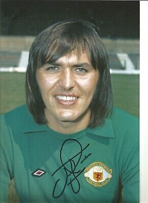 Football Autograph Jimmy Rimmer Manchester United Signed 12x8 Photograph JM148