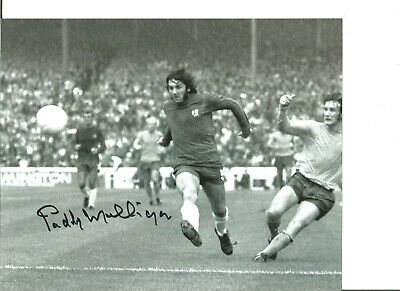 Football Autograph Paddy Mulligan Chelsea FC Signed 10x8 inch Photograph JM151