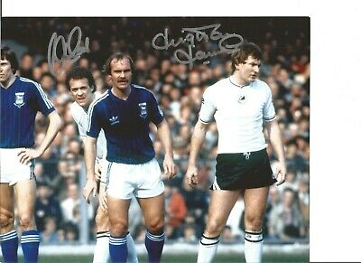 Football Autograph Alan Curtis, Leighton James Signed 10x8 inch Photograph JM152