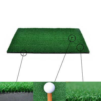 Backyard Golf Mat Residential Training Hitting Pad Practice Rubber Tee Holde HCA