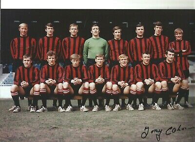 Football Autograph Tony Coleman Manchester City Signed 12x8 in Photograph JM189