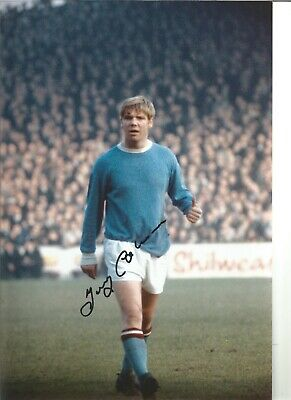 Football Autograph Tony Coleman Manchester City Signed 12x8 in Photograph JM190