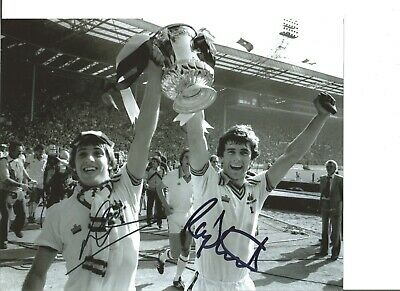 Football Autograph Geoff Pike Ray Stewart FA Cup Signed 10x8 in Photograph JM245