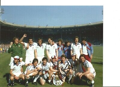 Football Autograph Ray Stewart West Ham FA Cup Signed 10x8 in Photograph JM255