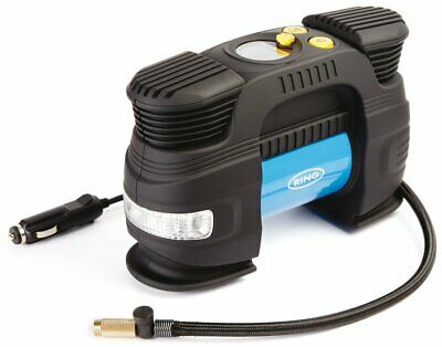 Ring RAC830 12V Rapid Digital Tyre Inflator for Large Tyres, Preset Function, Ad