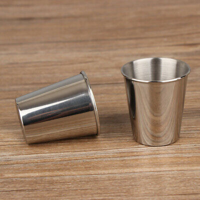 Hotel Stainless Steel Cup Bar Restaurant Silver Dining Kitchen Camping Home