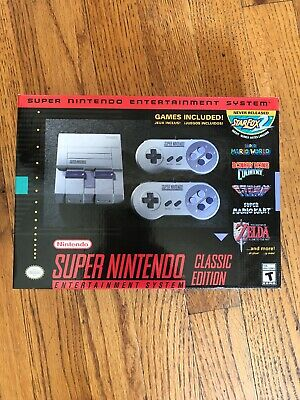 NEW Super Nintendo Entertainment System SNES Classic Edition CLVSNSG