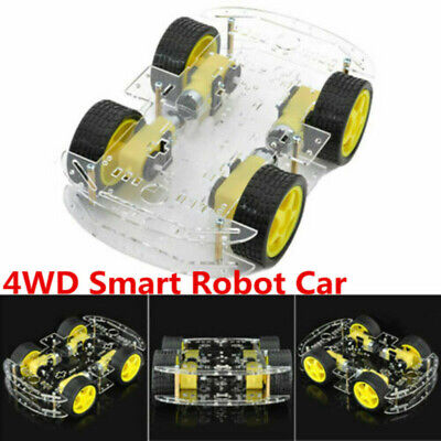DIY DC 4WD Smart Robot Car Chassis Kit W/ Magneto Speed Encoder For Arduino