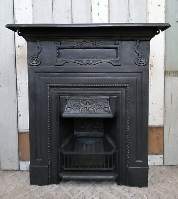 A Large Attractive Victorian Cast Iron Combination Fire Fc0058