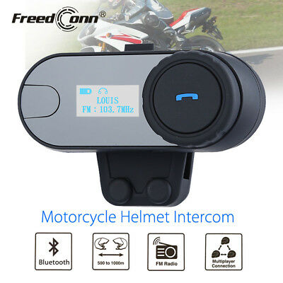 FDC TCOM-SC Motorbike 2.4G Bluetooth FM Radio Helmet Headset Intercom Interphone
