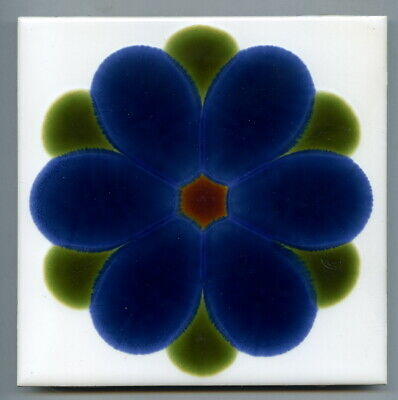 "Screen printed 6"" sq tile by Pilkington, 1971"