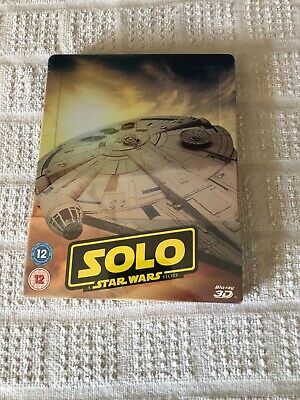 Solo A Star Wars Story Limited Edition 3D Blu Ray Steelbook(New/Sealed)