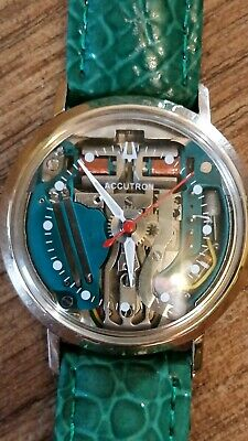 Bulova Accutron Spaceview electronic tuning fork Time piece