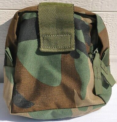 Woodland Camouflage MOLLE II 1st First Aid Medical IFAK Pocket Pouch US Military