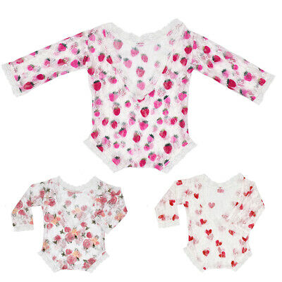 Infants Baby Lace Backless Romper Newborn Photography Props Princess Girls Cute