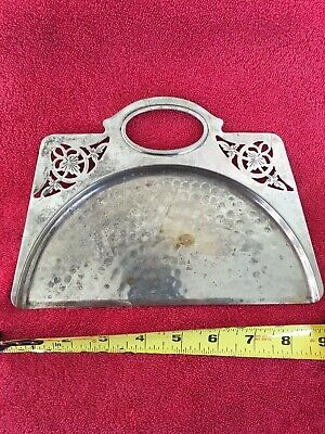Vintage Irvin? Ware Chrome Table Crumb Tray Silent Butler Crumb Catcher Sweeper