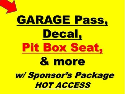 DAYTONA 500 - NASCAR Team Sponsor- Hot Garage, Pit Box Seat, Decal, & more!