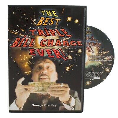 Magic Makers Triple Bill Change Trick DVD George Bradley