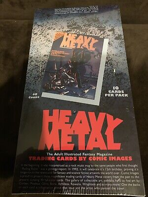Heavy Metal Trading Cards By Comic Images 1991 New 48 Pack Box Sealed Mint