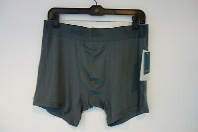 $34 NWT Tommy John Boxer Brief Second Skin Grey Sz Large L