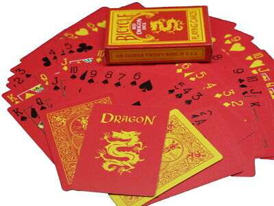 Magic Makers Red Dragon Deck in Bicycle