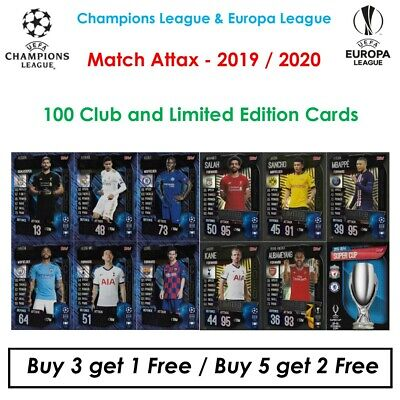 Champions League Match Attax 2019 - 2020: 100 Club & Limited Edition Cards (UK)