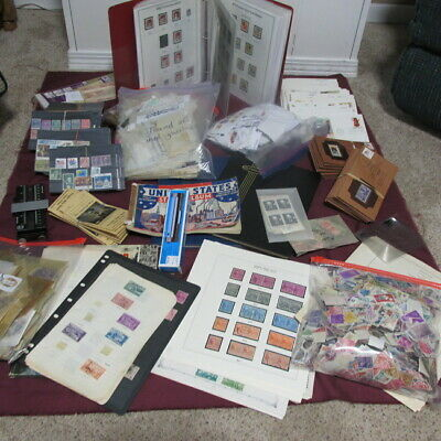 Box lot of U.S.stamps and supplies (25 pounds)