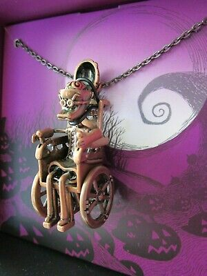 Disney Store Nightmare Before Christmas Necklace Dr. Finkelstein Wheelchair NEW