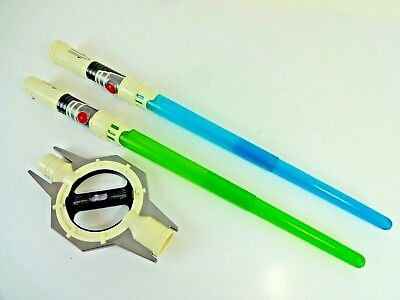 USED 2009 Star Wars Clone Wars General Grievous Spinning Light Sound Lightsaber
