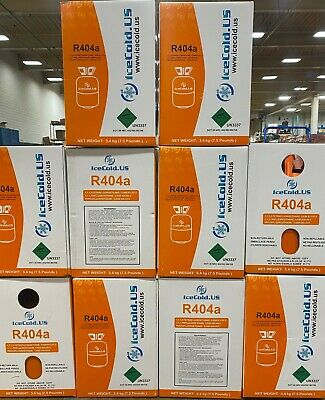 (10) R404a, R404, R-404, 404a Refrigerant *7.5lb* Factory Sealed and Full