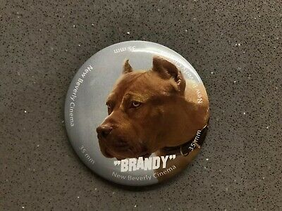 Quentin Tarantino New Beverly ONCE UPON A TIME IN HOLLYWOOD Pin Button Brandy