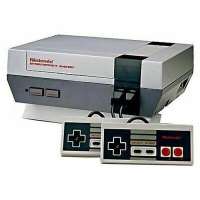 NES Nintendo Entertainment System Console 2 controllers cable power games retro