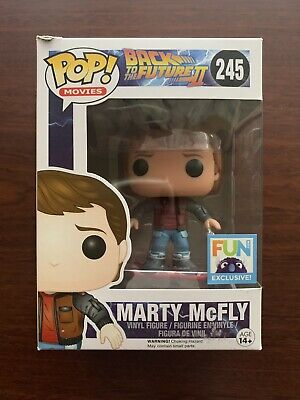 Funko Pop Back to the Future Marty McFly on Hoverboard FUN Exclusive