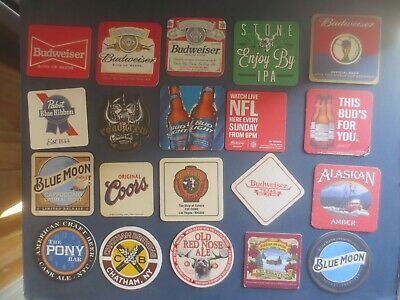 20 Different  AMERICAN Breweries  Issue collectable BEER COASTERS