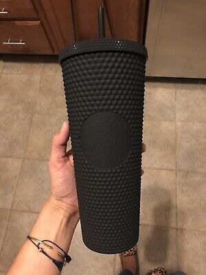 Starbucks Tumbler Cup 24 Oz Matte Black Studded Limited Edition New Fall 2019