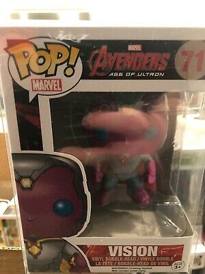 Funko Pop! Marvel Avengers Age Of Ultron Vision #71 In Pop Protector