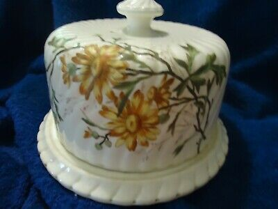 Antique Bonn Franz Pottery Cheese / Cake platter & cover