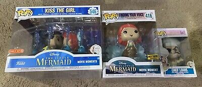 Funko Pop Little Mermaid Lot 3 Kissing The Girl & Finding Your Voice Exclusive