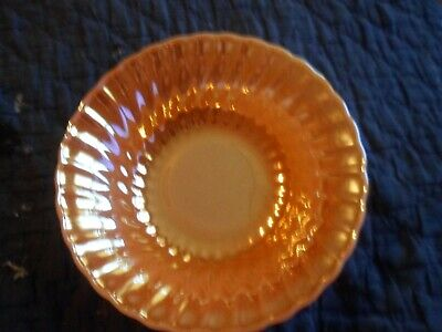 "vintage 2 Hocking Fire King Oven Ware peach lustre swirl bowls 8.5"" & 4.75"""