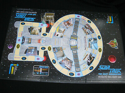 1990s STAR TREK Interactive VIDEO board game STAR TREK The Next Generation