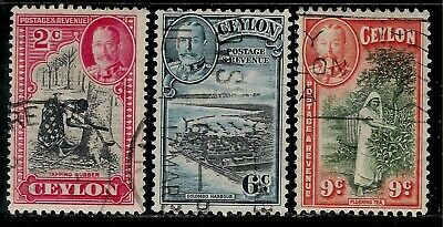 British Colony CEYLON 1935 Old Stamps - King George V