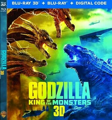 Godzilla: King of the Monsters 3D BLURAY (no region code required )