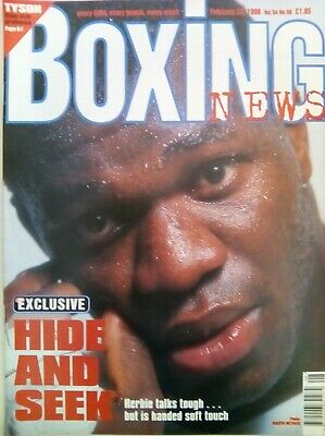 BOXING NEWS - 20 Feb 1998 - HIDE - EXCELLENT CONDITION