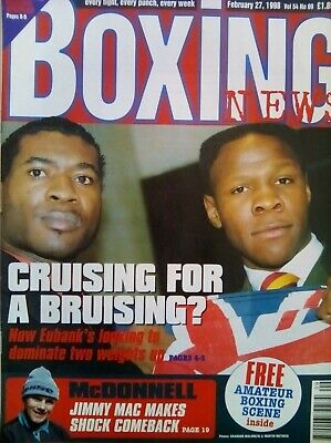 BOXING NEWS - 27 Feb 1998 - EUBANK - EXCELLENT CONDITION
