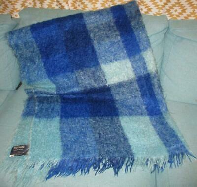 Vintage-Onkaparinga-WARATAH Mohair-Throw-Fringed Travel Rug 143 by 175