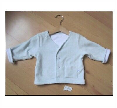 New Baby Boys Clothes Age 0-3 Month Boys Pale Blue Velour Feel Jacket Mothercare