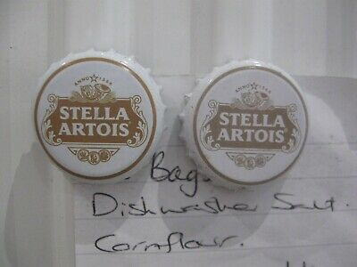 Fridge magnets: 2 STELLA ARTOIS BOTTLE TOPS MAGNETS