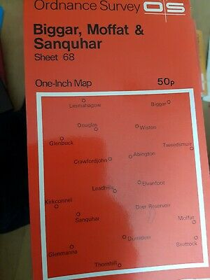 Ordnance Survey One Inch Map: Biggar, Moffat & Sanquhar